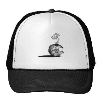 Smoking skull trucker hats