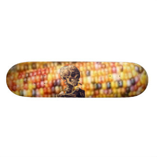smoking skull maize skateboard