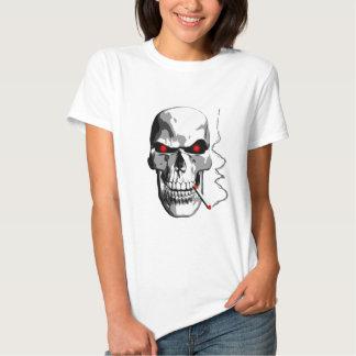 Smoking Skull Tee Shirts