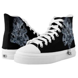 Smoking Skulls Printed Shoes