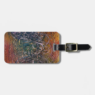 Smoking volcano luggage tag