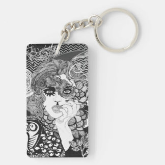 Smoking Woman keychain