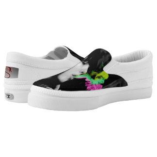 Smoking Zipz Slip On Shoes By Krypton Dmx Printed Shoes