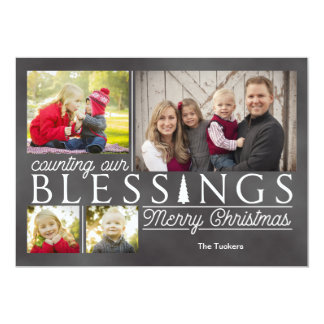 Smoky Chalkboard Christmas Photo Card