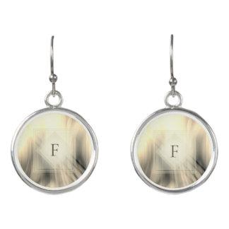 Smoky & Faded Abstract Monogram | Earrings