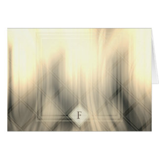 Smoky & Faded Abstract Monogram | Greeting Card