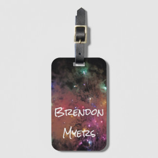 Smoky Galaxy Luggage Tag