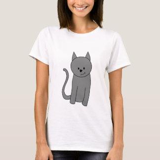 Smoky gray cat cartoon T-Shirt