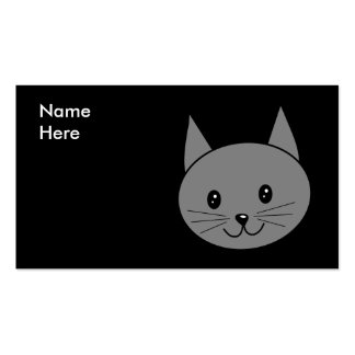 Smoky Gray Cat. Pack Of Standard Business Cards