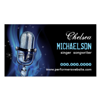Smoky Microphone Performers Pack Of Standard Business Cards