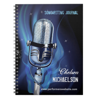 Smoky Microphone Performers Songwriting Notebook