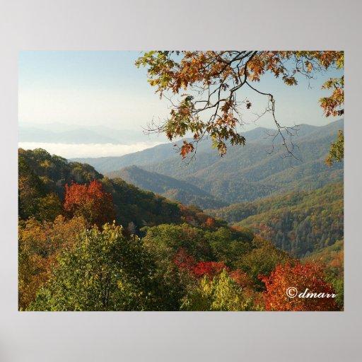 Smoky Mountain Autumn Foliage Posters