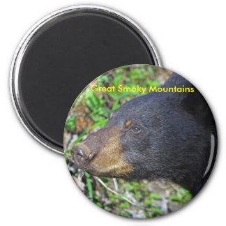 Smoky Mountain Bear 6 Cm Round Magnet