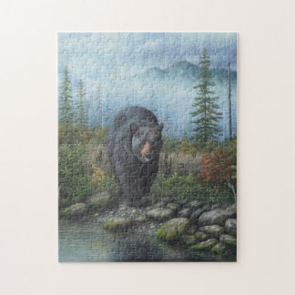 Smoky Mountain Black Bear Jigsaw Puzzle