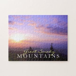 Smoky Mountain Sunrise - toy puzzle