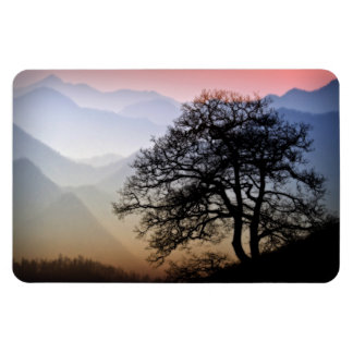 Smoky Mountain Sunset from the Blue Ridge Parkway Rectangular Photo Magnet