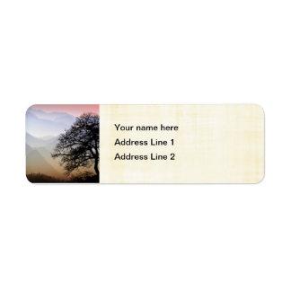 Smoky Mountain Sunset from the Blue Ridge Parkway Return Address Label