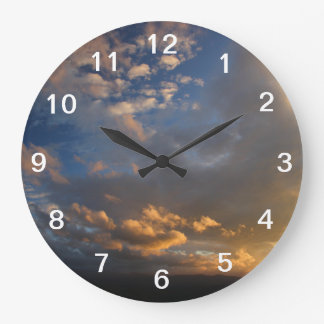 Smoky Mountain Sunset Large Clock