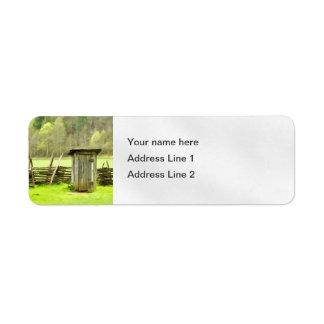 Smoky Mountains Outhouse Return Address Label