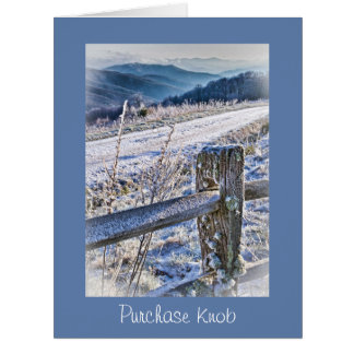 Smoky Mountains, Purchase Knob Winter Scenic View Big Greeting Card