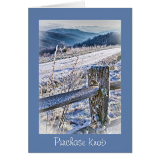 Smoky Mountains, Purchase Knob Winter Scenic View Stationery Note Card