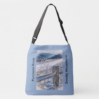 Smoky Mountains, Purchase Knob Winter Scenic View Crossbody Bag