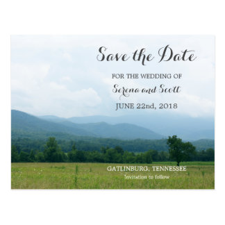 Smoky Mountains Save the Date Postcard