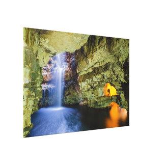 Smoo Cave Durness in Sutherland Highland Scotland Canvas Print