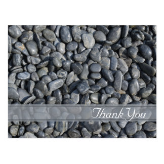 Smooth Black Pebbles Thank You Postcard