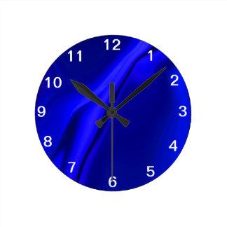Smooth Blue Design Round Clock