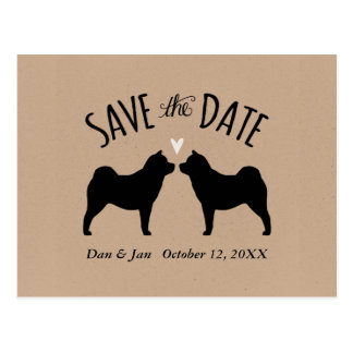 Smooth Chow Silhouettes Wedding Save the Date Postcard