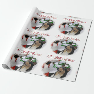 Smooth Collie Meets Santa Christmas Wrapping Paper