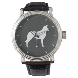 Smooth Collie Silhouette Watch