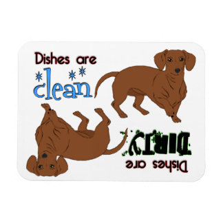 Smooth Dachshund Rectangle Dishwasher Magnet