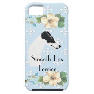 Smooth Fox Terrier - Blue w/White Diamond Design iPhone 5 Cases