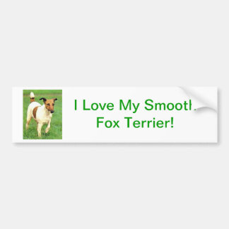 Smooth Fox Terrier Car Bumper Sticker