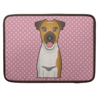 Smooth Fox Terrier Cartoon MacBook Pro Sleeves