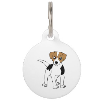 smooth fox terrier cartoon pet tags