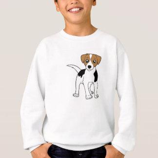 smooth fox terrier cartoon sweatshirt