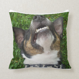 smooth fox terrier chillin cushion