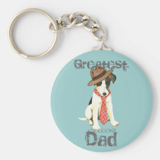 Smooth Fox Terrier Dad Key Ring