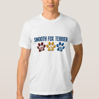 SMOOTH FOX TERRIER Dad Paw Print 1 T-shirts