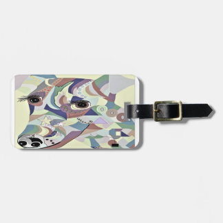 Smooth Fox Terrier Denim Colors Luggage Tag