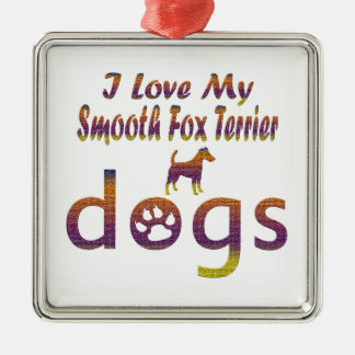 Smooth Fox Terrier designs Silver-Colored Square Decoration