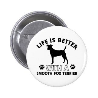 Smooth Fox Terrier dog breed designs Buttons