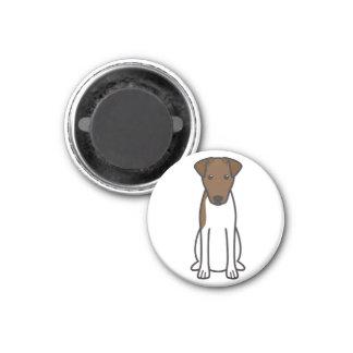 Smooth Fox Terrier Dog Cartoon 3 Cm Round Magnet