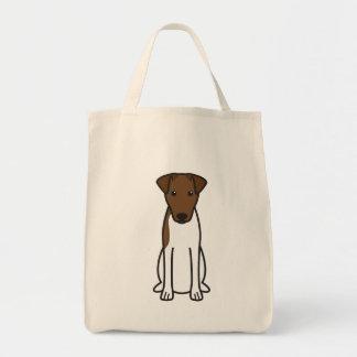 Smooth Fox Terrier Dog Cartoon Tote Bags