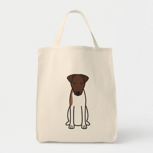 Smooth Fox Terrier Dog Cartoon Tote Bag