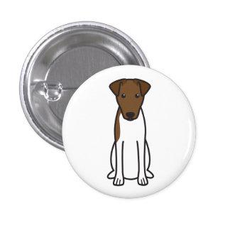 Smooth Fox Terrier Dog Cartoon Button