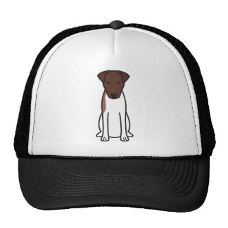 Smooth Fox Terrier Dog Cartoon Trucker Hat